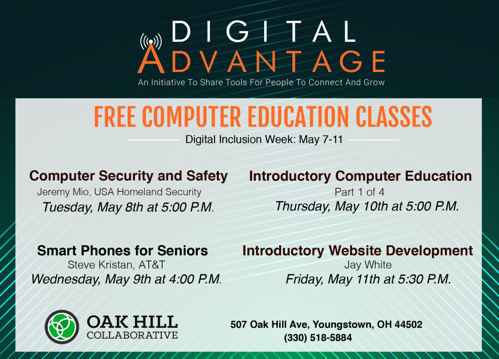 Digital Inclusion Week Schedule At Oak Hill Collaborative
