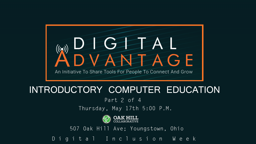 Introductory Computer Education @ Oak Hill Collaborative | Youngstown | Ohio | United States