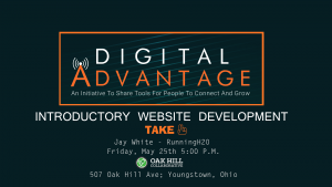 Introductory Web Development - Part 2 @ Oak Hill Collaborative | Youngstown | Ohio | United States