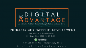 Introductory Website Development @ Oak Hill Collaborative | Youngstown | Ohio | United States