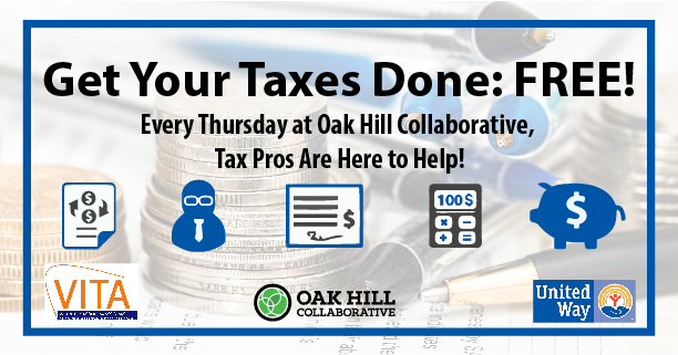Get your taces done fore free at Oak Hill Collaborative